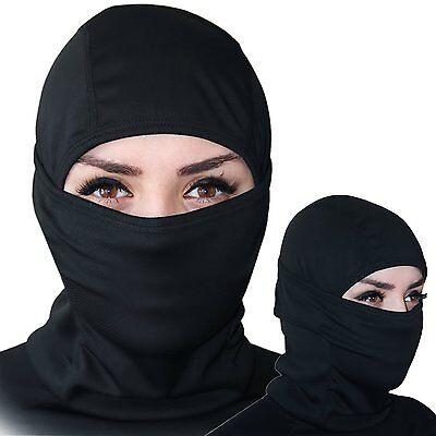Black Ninja Mask (Balaclava Ski Mask Premium Face Ninja Mask Motorcycle Neck Warmer)