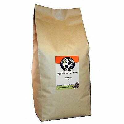 Good Gold Coffee - Good As Gold Coffee - Fresh Roasted - Vienna Roast - 5lb Whole Bean