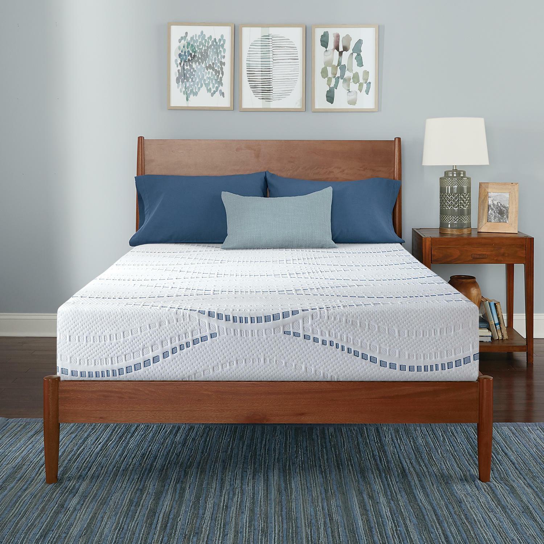 """Comfortable Sleep Serta SleepToGo 10"""" Gel Memory Foam Luxury"""