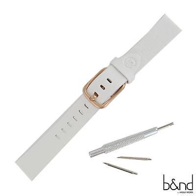 Hadley Roma Mode 16Mm Genuine Italian Leather Rose Gold Smart Watch Band Moto360