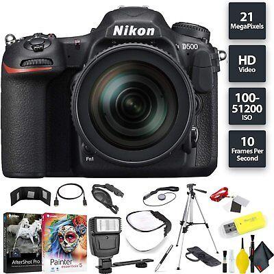 Nikon D500 DSLR Camera + 16-80mm Lens Base Combo International Model