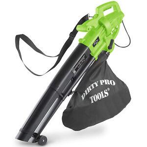 3000W Electric Garden Leaf Blower Vacuum Hoover Shredder 3 in 1 Debris Bag New