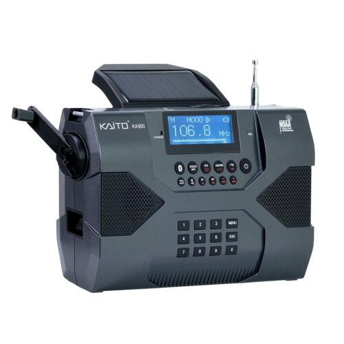 Kaito KA900 Digital Solar Crank NOAA Weather Stereo AM FM Shortwave Radio