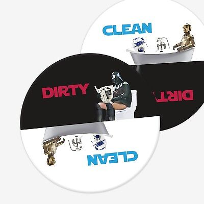 "Clean / Dirty Dishwasher Magnet STAR WARS theme | 3.5"" magnet 