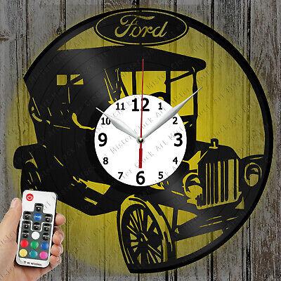 LED Clock Ford Retro Car Vinyl Record Clock Art Decor OriginalGift 2296