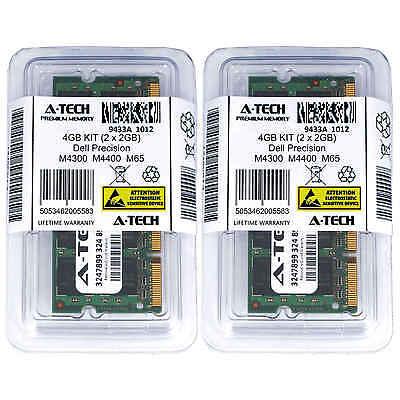 4GB KIT 2 x 2GB Dell Precision Mobile Workstation M4300 M4400 M65 Ram Memory