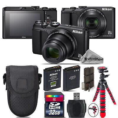 Nikon Coolpix A900 20MP Digital Camera Black 35x Optical Zoom - 32GB Kit Bundle for sale  Shipping to Canada