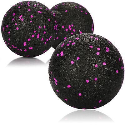 2-teiliges Massagebälle-Set, Doppel-/Massageball für Selbstmassage, pink schwarz