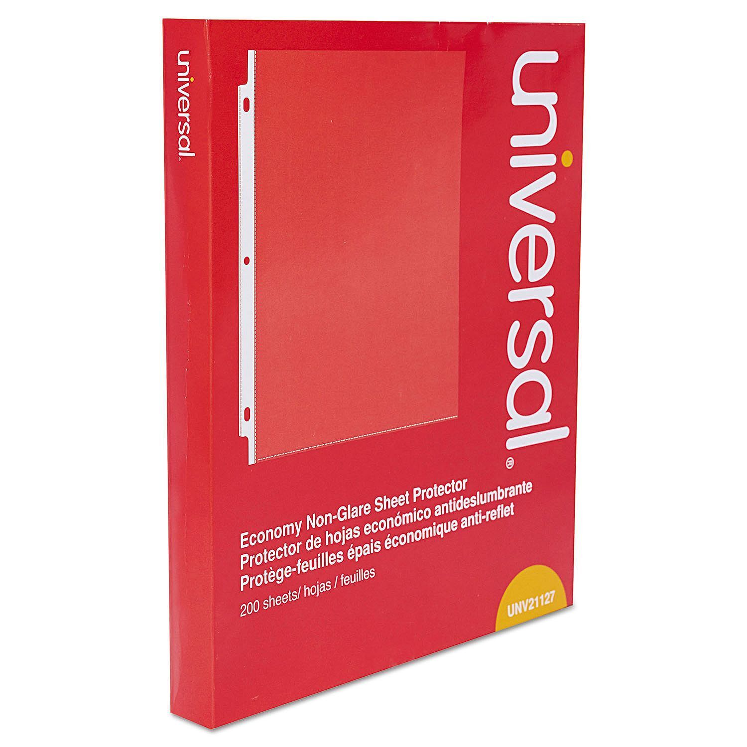 Universal Top-Load Poly Sheet Protectors, Nonglare, Economy, Letter, 200/Box