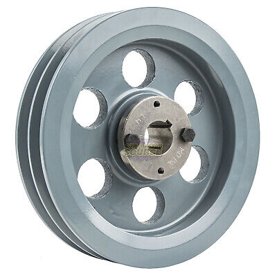 Cast Iron 7.75 2 Groove Dual Belt B Section 5l Pulley 1 Sheave Bushing