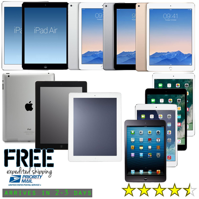 New iPad Air,mini,2,3,4,Pro   WiFi Tablet  16GB 32GB 64GB 128GB 256GB   Warranty