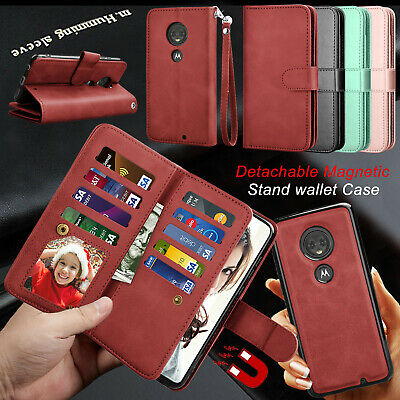 For Motorola Moto G7 Power/Play/Plus/Supra Wallet Case Flip Leather Card Cover