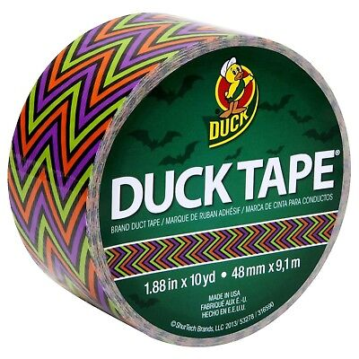 Duck Brand 282225 Printed Duct Tape Scary Chevron 1.88 Inches X 10 Yards...