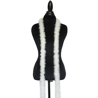 Ivory /Off White 15 Grams Marabou Feather Boa 6 Feet Long Crafting Sewing Trim