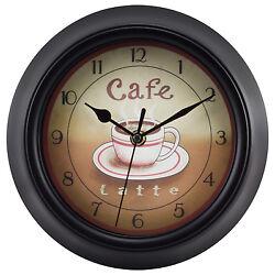 4804G Geneva Clock Company 9 Coffee Theme Analog Wall Clock
