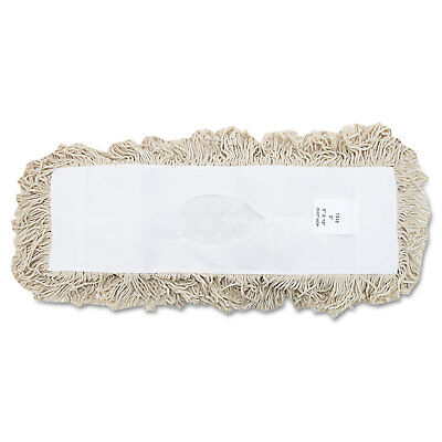Boardwalk Industrial Dust Mop Head Hygrade Cotton 18w X 5d White 1318