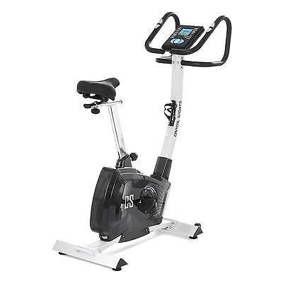 Cardiobike Fitnessgerät Ergometer Fahrrad Pulsmesser Trainingscomputer silber