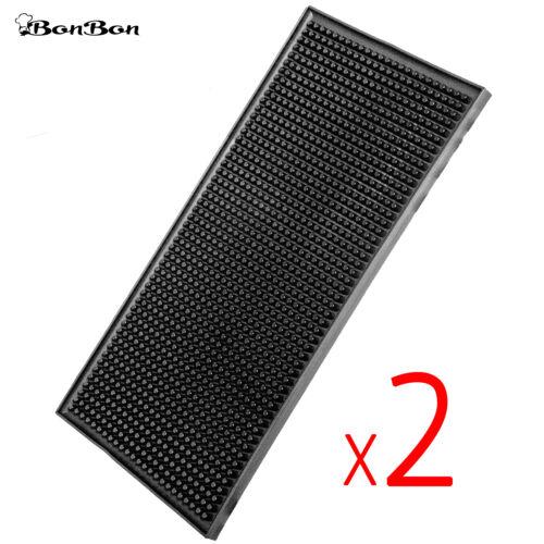 """BonBon 2 Pack Professional 12"""" x 6"""" Rubber Liquor Service Bar Mat Kitchen Home"""