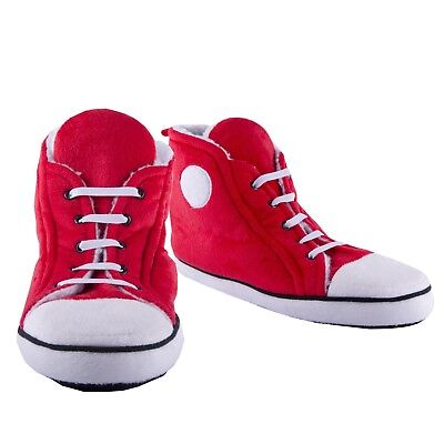 Hausschuhe Sneaker in rot für Männer Pantoffeln Sportschuh Winter 1x Paar (Haus Hausschuhe Sport)