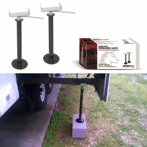 2pcs Adjustable Camper Support Slide Out RV Stabilizer Trailer Wheel Lift Jack