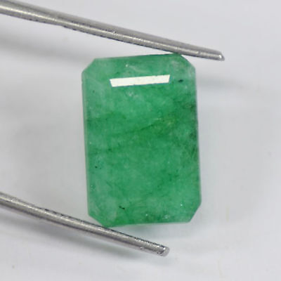 VERY RARE 16x11mm (10.65cts) OCTAGON-FACET CERTIFIED NATURAL COLOMBIAN EMERALD