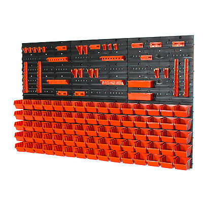 81 tlg. Wandregal Lagerregal Stapelboxen Halterung Orange POP Serie Gr.1 Platten