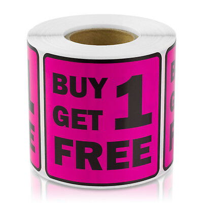 Buy One Get One One Free Labels Retail Garage Sale Store Price Stickers 21pk