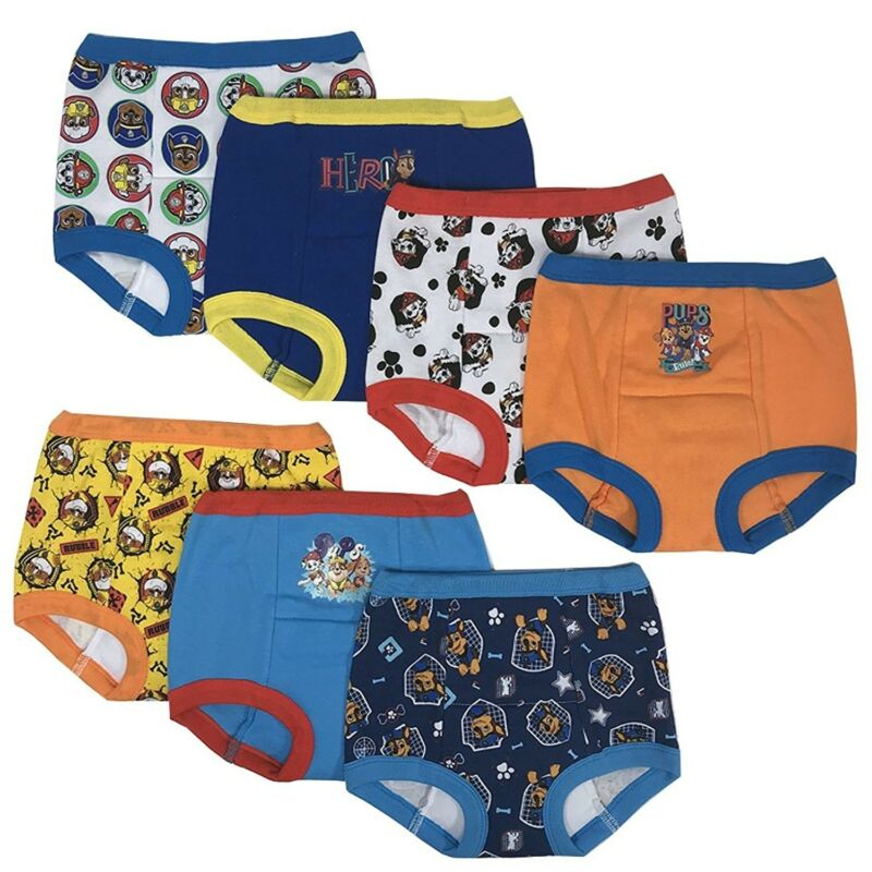 PAW PATROL Boys Potty Training Pants Underwear Toddler 7-Pack Size 2T, 3T, 4T