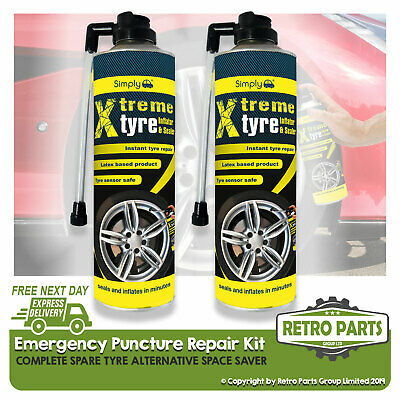 2 x Wheel Tyre Inflator Spare Space Saver Repair Cans MC20//P