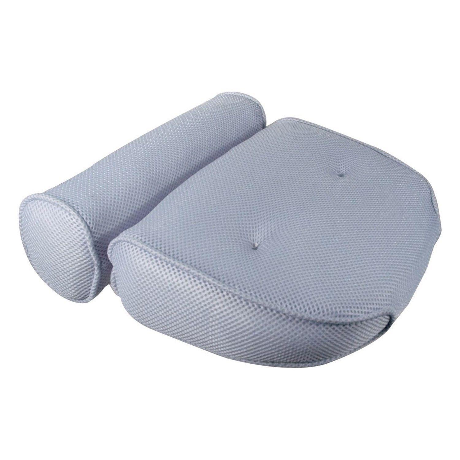 Ideaworks - Home Spa Bath Pillow 14 x 13 x 4 Neck and Back Comfort ...