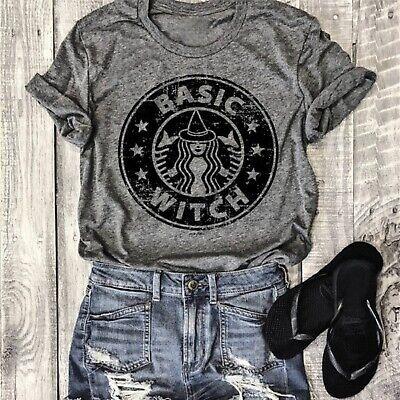 Shirts For Halloween (Halloween Shirts For Women Basic Witch Shirt Tee Light Grey Hocus Pocus &)