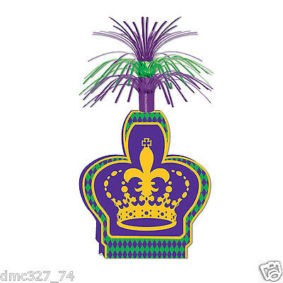 1 MARDI GRAS Fat Tuesday Party Decoration Table top CROWN CENTERPIECE 15