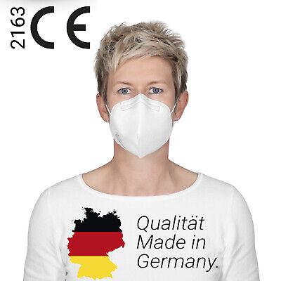 10x FFP2 Maske MADE IN GERMANY Mundschutz CE 0534 Zertifiziert Atemschutzmaske