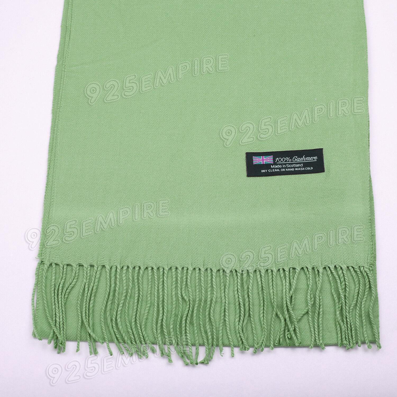 Mens Women Winter Warm 100/% Cashmere Scarf Solid Gray Scotland Soft Wool Wrap
