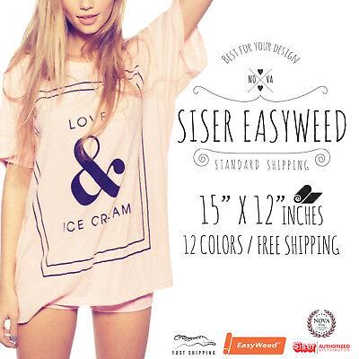 Siser Easyweed Tshirt Heat Transfer Vinyl Htv 12 X 15 12-color Starter Bundle