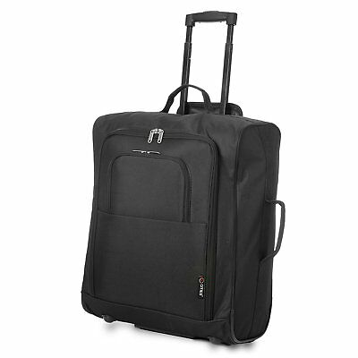 5 Cities Easyjet 56X45X25Cm Cabin Approved Trolley Case Hand Luggage Bag 60L BK