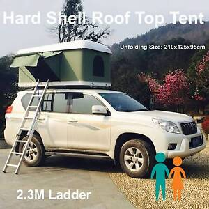 Winter Sale white hard shell pop up roof top tent with ladder Riverwood Canterbury Area Preview
