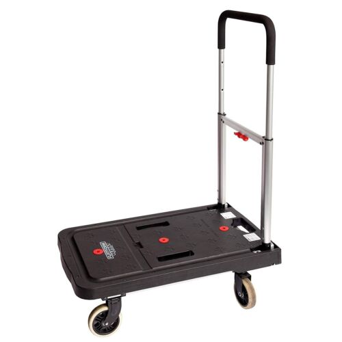 Portable Platform Cart Telescoping Handle Rolling Flat Bed Utility Dolly Folding