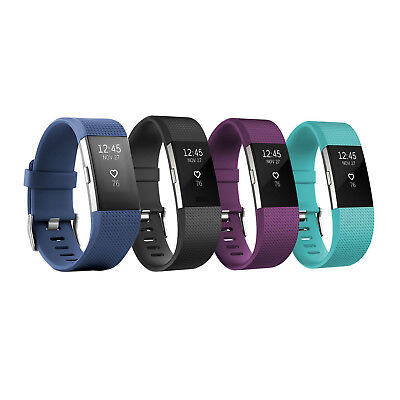 Fitbit Charge 2 Heart Rate   Fitness Wristband Large And Small Size