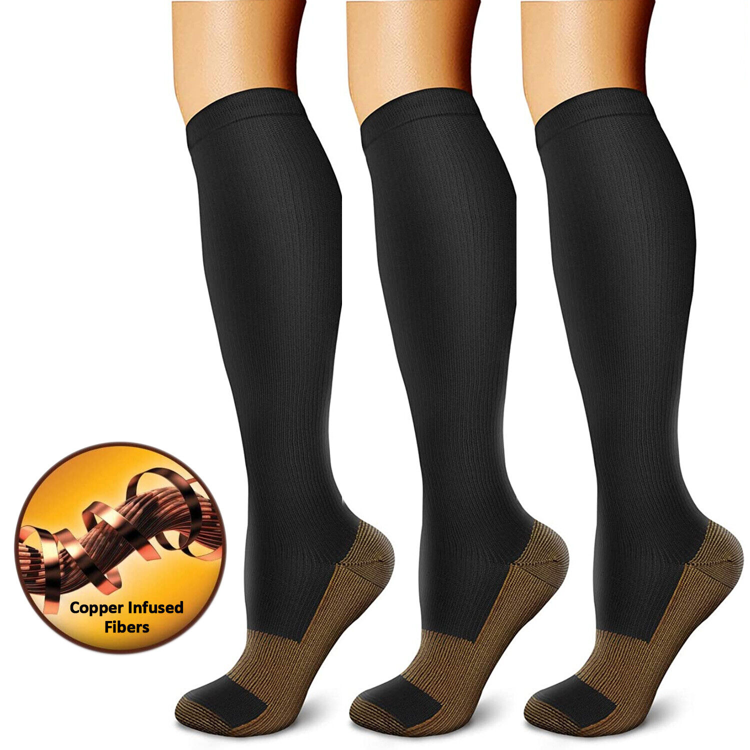 For Men Women Compression Socks Plantar Fasciitis Arch Ankle Running Support Health & Beauty