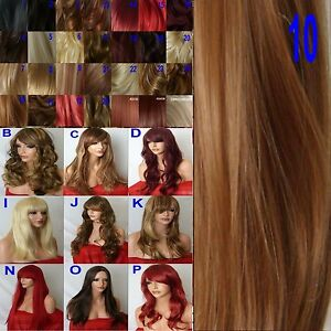 Womens Hair Fashon Wig **9 STYLES/25 SHADES** Long Curly Straight Flick Lady Wig