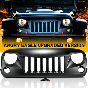 Angry Bird Front Matte Grill Grille For Rubicon Sahara JK Jeep Wrangler 2007-17