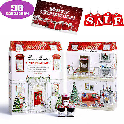 Bonne Maman 2020 LIMITED EDITION Advent Calendar, with 24 mini fruit spreads and