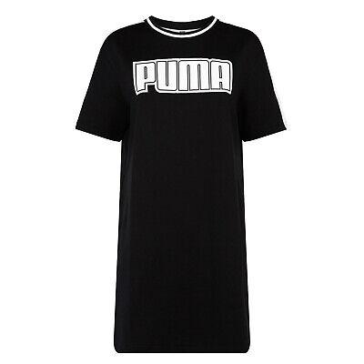 Puma Rebel Reload Womens Ladies Short Sleeve Fashion Dress Black