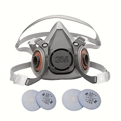 3M 6000 Series Respirator Small Half Mask Facepiece w/2 Pairs 3M 2071 Filters on Rummage
