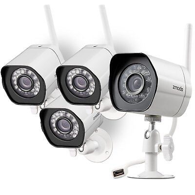 Zmodo 4 720p IP Outdoor Wireless IR Night Vision Home Security Camera System