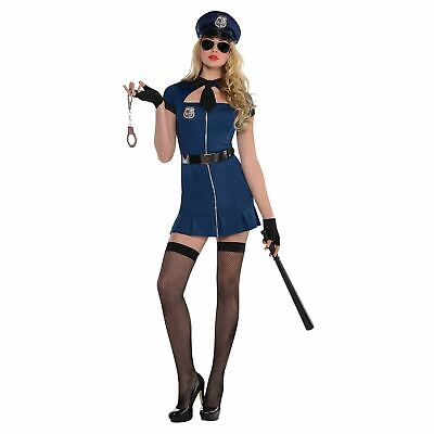 Ladies Bad Cop Fancy Dress Costume Police Woman SWAT Sexy 14-16