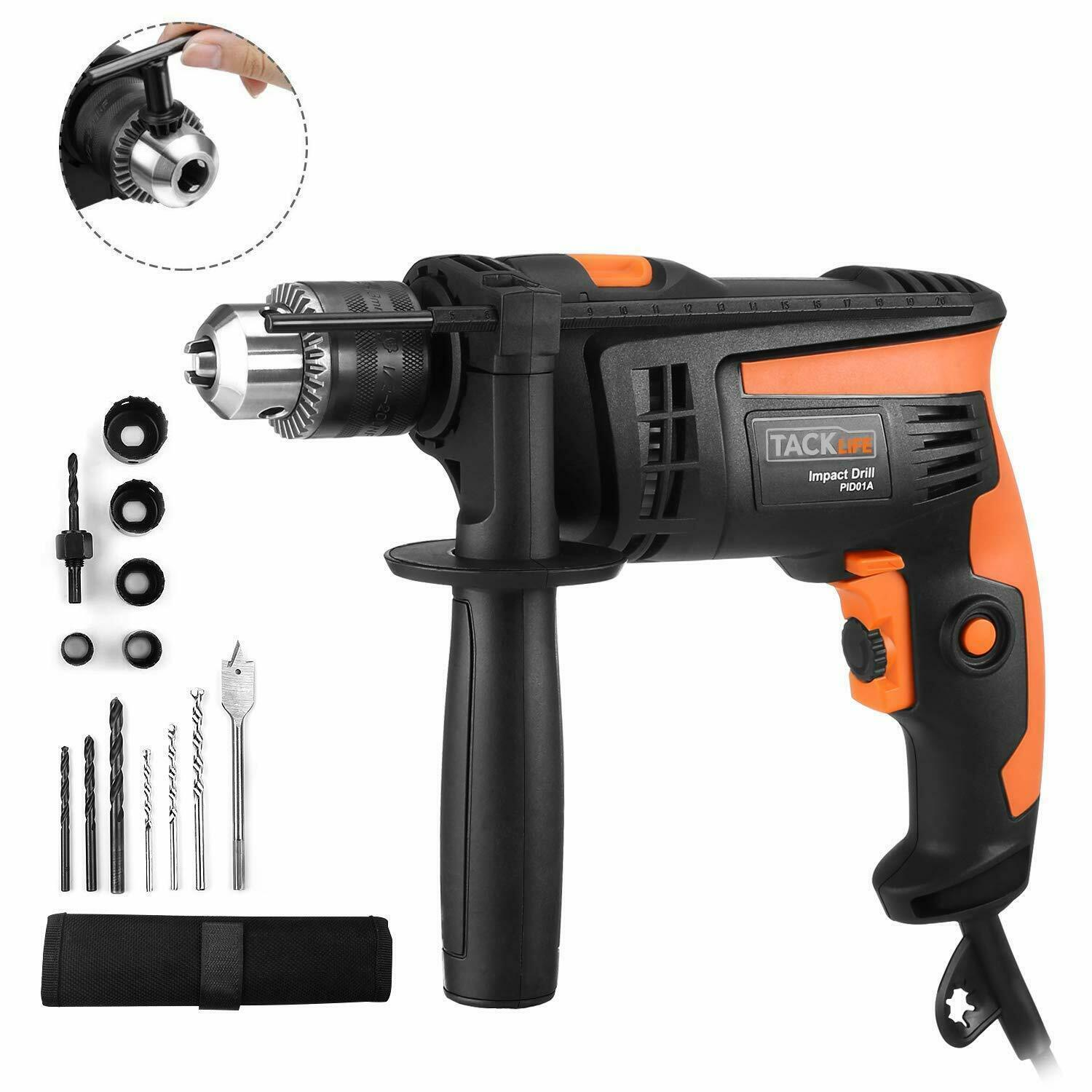 Hammer Drill, TACKLIFE 1/2-Inch Electric Drill, 2800 RPM, Ha
