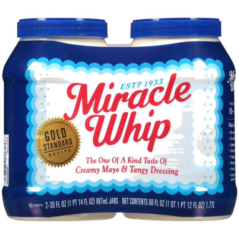 Miracle Whip Dressing Condiments, 30 oz. Pack of 2, Total 4 ct.