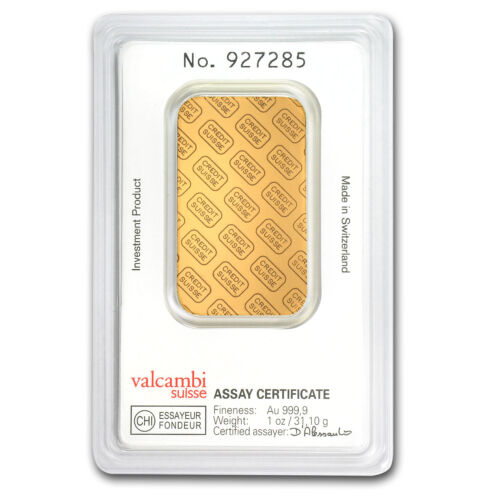 Купить Credit Suisse - 1 oz Credit Suisse Gold Bar In Assay .9999 Fine - SKU #82687